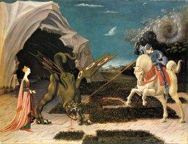 A lovag legyőzi a sárkányt