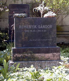 Reményik Sándor sírköve
